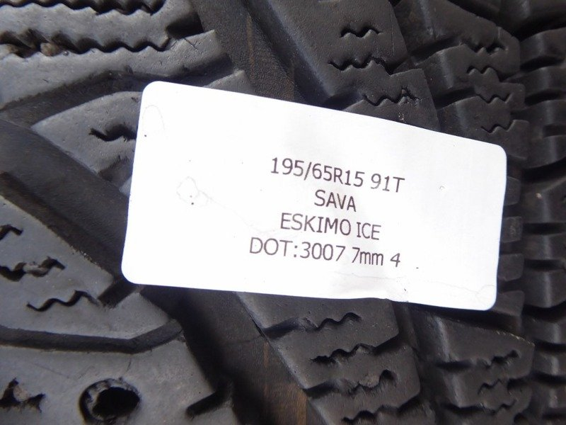 4x 195/65R15 91T SAVA ESKIMO ICE 7mm
