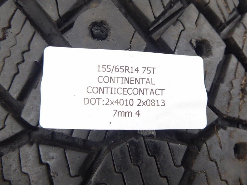 4x 155/65R14 75T CONTINENTAL CONTIICECONTACT 7mm