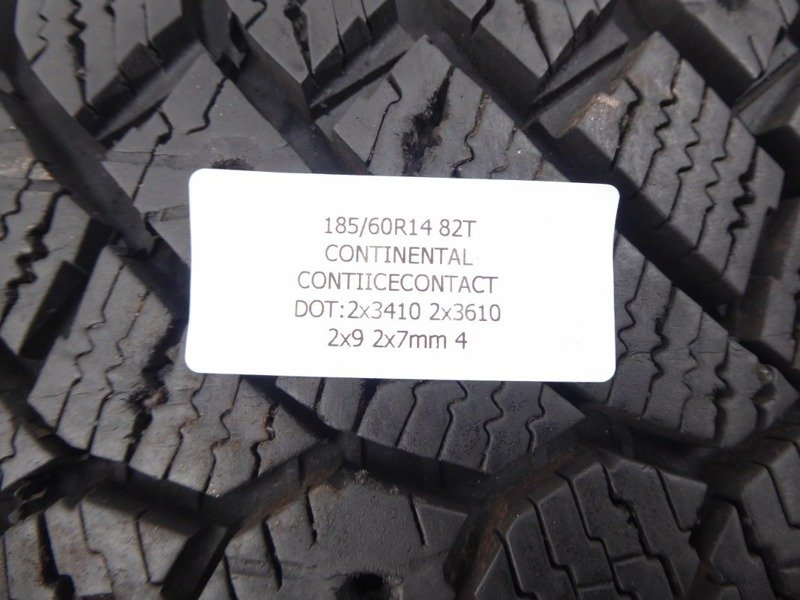 4x 185/60R14 82T CONTINENTAL CONTIICECONTACT 9mm 7mm